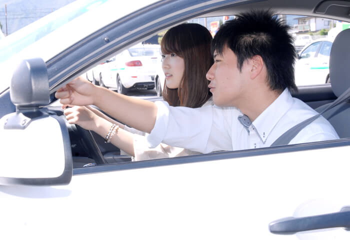 マツキドライビングスクール長井校の教習の様子