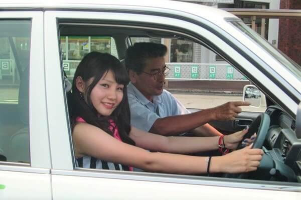 千葉マリーナ・ドライビングスクール(五井自動車教習所)の教習の様子